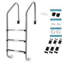 Pool Ladder Polished Stainless Steel Swimming Pool Ladder For In ground Pools