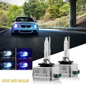 2x 8000K Ice Blue D3S D3R D3C HID Xenon Bulbs Replace Factory OEM HID Headlights