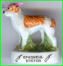 """Feve Les Races de Chien Dog Edition Atlas """" L' Épagneul Breton """" Chasse  #A31"""