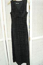 "CACHAREL Vintage Maxi Dress 32"" Bust XS Empire Waist Velvet Devoré Silk Blend"