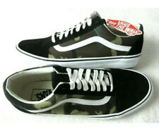 Vans Mens Old Skool Black Woodland Camo Canvas Suede Skate shoes Size 9 Worn 3x