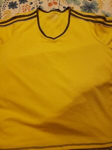 Athletic Made For Life Quick-Dri Yellow V-Neck Knit Top Size 1X NWT