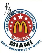 XAVIER HENRY MCDONALDS ALL AMERICAN SIGNED AUTO 8x10 PHOTO W/COA