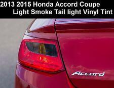2013 2014 Honda Accord Coupe Tail Light Reverse Light Smoke Vinyl Overlay Tint 2