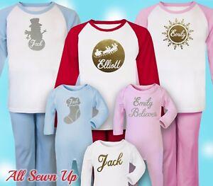 Personalised Christmas Pyjamas - 100% cotton beautiful xmas gift. Christmas eve
