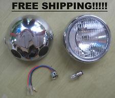 Headlight & Chrome Case Yamaha Chappy 50 80 LB50 LB80 DT100 X YL2 G  FREE SHIP.