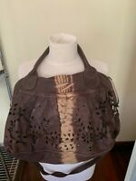 Gorgeous and floppy Caterina Lucchi leather bag, cut out pattern, EUC
