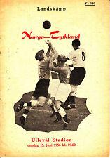Programm Länderspiel Norwegen - Deutschland DFB 13.06.56 in Oslo