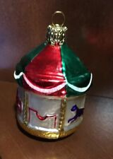Blown Glass Carousel Christmas Tree Ornament by Christborn