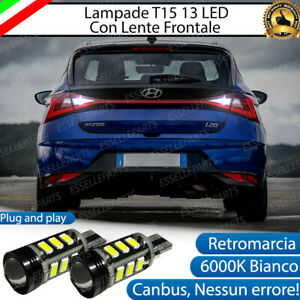LAMPADE RETROMARCIA 13 LED T15 W16W CANBUS HYUNDAI I20 MK3 CON FARI LED 6000K