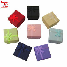 120 pcs Mixed Silver Jewelry Organizer Gift Package Ring Box Wedding Paper Cases
