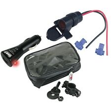 PORTA NAVIGATORE GPS MOTO + PRESA ACCENDISIGARI USB MOTO YAMAHA BMW HONDA DUCATI