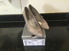 Ladies Gabor Shoes Brax Mid Designer Heel 7 40 Perfect With Box Gold Lth