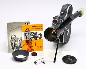 BOLEX H16 16MM MOVIE FILM CAMERA + SOM BERTHIOT PAN-CINOR 17-85MM F/2 LENS