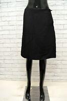 PRADA Gonna Minigonna Vita Alta in SETA Viscosa Taglia 42 Skirt Woman Black Nero