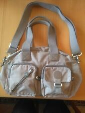 KIPLING large taupe hand/shoulder Bag with Monkey charm NEW.