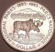 Silver Proof Canada 1985 National Parks Dollar~See Our Canadian Silver~Free Shi