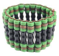 M1158 fashion women wooden bead chain stretch charm bracelet jewelry