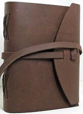 Handmade Paper Brown Luxury Leather 5 x 7 Paper Journal -  A5 Sketchbook