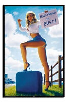 Hollywood Or Bust 1940s Saucy Art Poster Gloss Laminated New Sealed Free UK P&P