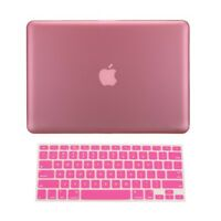 "2 in 1 Rubberized PINK Hard Case for Macbook PRO 15"" A1286 with Keyboard Cover"