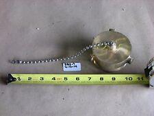 New Elkhart 311 2 12 Male Fire Hose Plug Brass 9 Chain