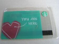 RUSSIA new Starbucks card   Heart You are here ,sealed