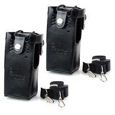 2pcs Leather Case Radio Holder Holster for Motorola GP328/338/380 HT750/1250 PRO