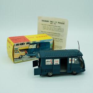 DINKY TOYS 570 ★ Fourgon tôle J7 Peugeot ALLO FRET ★ SUPERBE état !! + ANTENNE