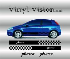 Fiat Punto racing vinyl stripes and logos Kit - stickers decals graphics