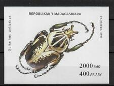 (W1283) MADAGASCAR, 1993, INSECTS, BL. 254, UM/MNH, SEE SCAN