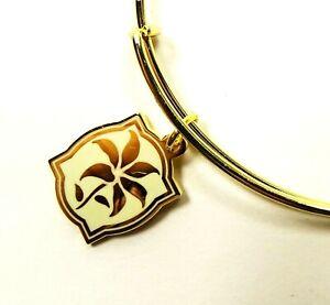 ALEX and ANI Rafaelian Gold Color Infusion Lily Wrap Bracelet w/Charms