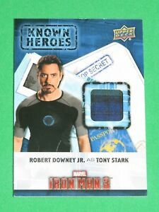 CAPTAIN AMERICA CIVIL WAR KNOWN HEROES KH-TO ROBERT DOWNEY IRON MAN COSTUME CARD