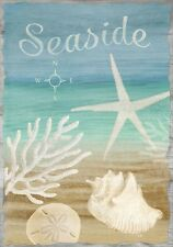 "FM118 SEASIDE SHELLS BEACH SHORE SUMMER 12""x18"" GARDEN FLAG BANNER"