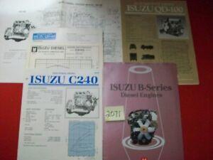ISUZU B-SERIES DIESEL ENGINE BROCHURE & OTHER MODELS SPECIFICATION & INFO SHEETS