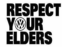 Respect Your Elders VW Vinyl Decal Sticker for Car/Window/Wall