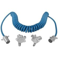 Blue Ox BX8861 4-Wire Tow Bar Coiled Electrical Cables, RV Camper Towing Trailer