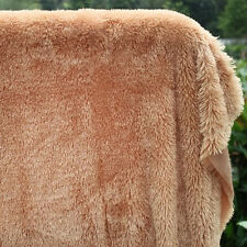 "Camel PV plush velvet fabric faux fur fabric Photography backdrops 60"" BTY"