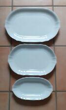FÜRSTENBERG ANNA CARINA: 3 Platten/ Servierplatten, Weiß.