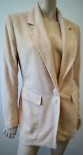 MICHAEL KORS Pale Pink 100% Cashmere Collared Single Breast Lined Blazer Jacket