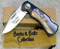 NAHC North American Hunting Club Knife Bucks and Bulls Folding Blade Lockbck ELK