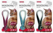 BEAPHAR VELVET SOFT CAT FLEA COLLAR 12 WEEK PROTECT 3 COLOURS WITH BELL 17805