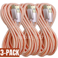 3Pack Micro USB Charger Cable 10Ft Lot Fast Charging Cord For Android Samsung