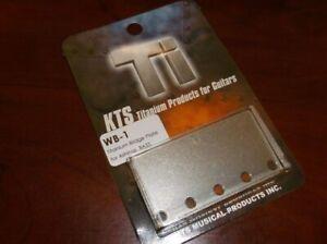 NEW - KTS WB-1 Bridge Plate For Bass - TITANIUM