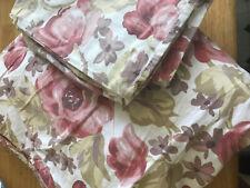 Eddie Bauer HOME Queen Duvet Cover, Floral Rose Pink Cotton Romantic