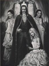 "*Postcard-""Halloween-""Dracula & his 3 Lady Assistants/Companions"""