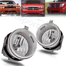 for Dodge Challenger Charger Nitro Avenger Caliber Clear Fog Lights Bumper Lamps (Fits: Dodge Avenger)