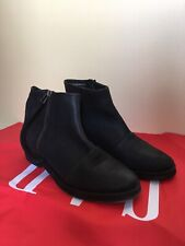 Mango Real Leather Black Ankle Boots Eur 39