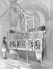 LONDON. Perspective Gt clock of Royal Exchange, antique print, 1844
