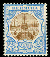 Sg40, 2½d brown, ultramarine, M MINT. Cat £29.